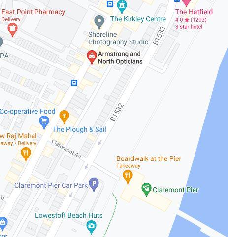 Lowestoft parking map