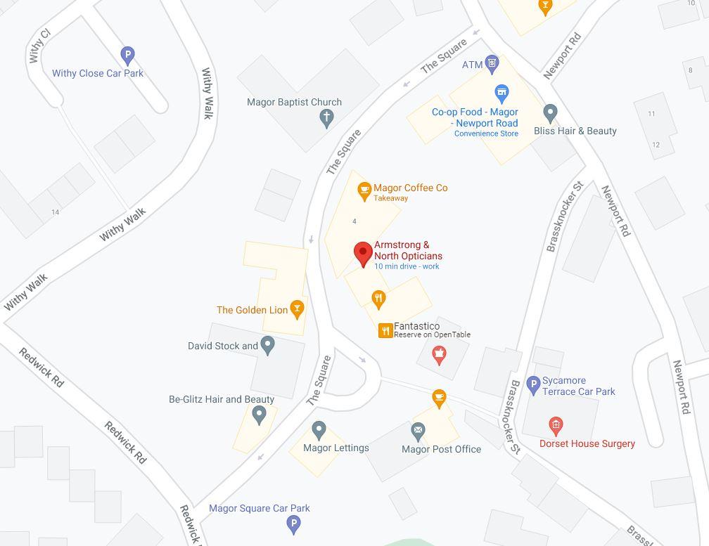Magor Parking Map