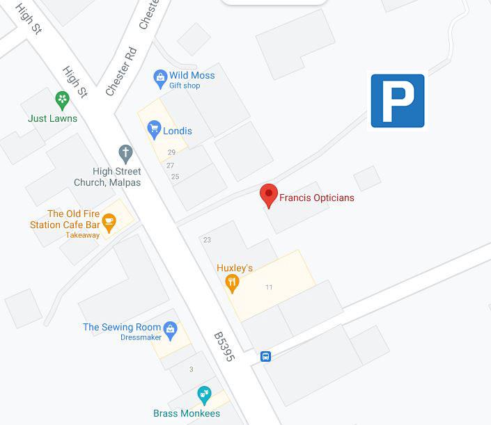 Malpas Car Park Map